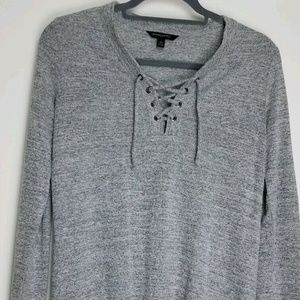 Banana Republic Heather Grey Pullover Lg Sleeve XS